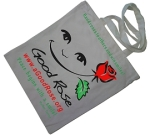 Smile Rose Cotton Bag